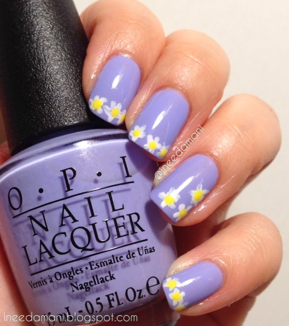 opi you're a budapest lavender daisy nails