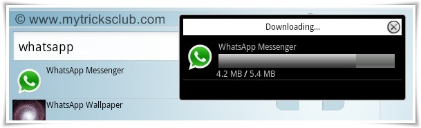 Click on 'Whatsapp Messenger' from any of the sources provided then