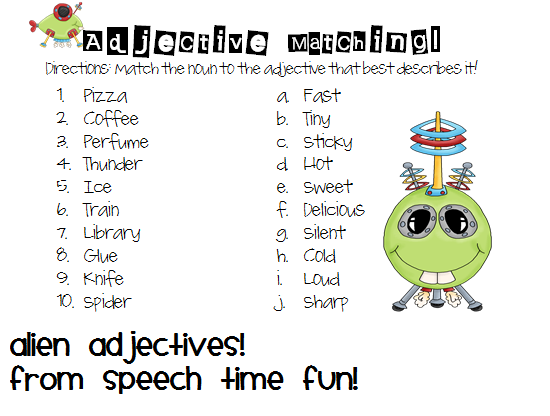 Adjective Aliens - Speech Time Fun: Speech and Language ...