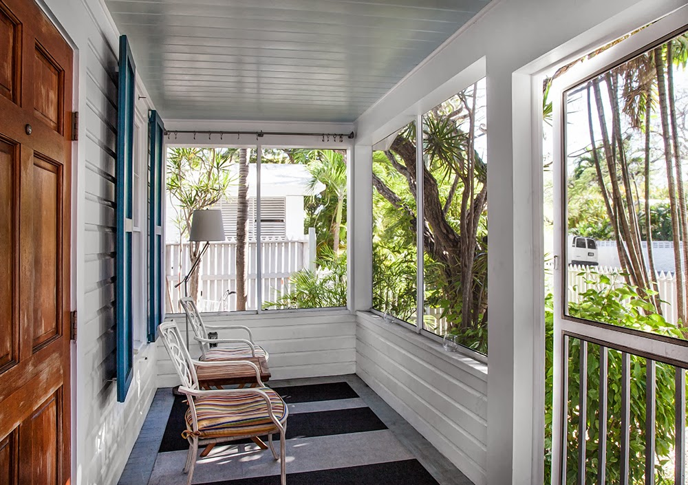 Screened-in porch at 1407 White Street