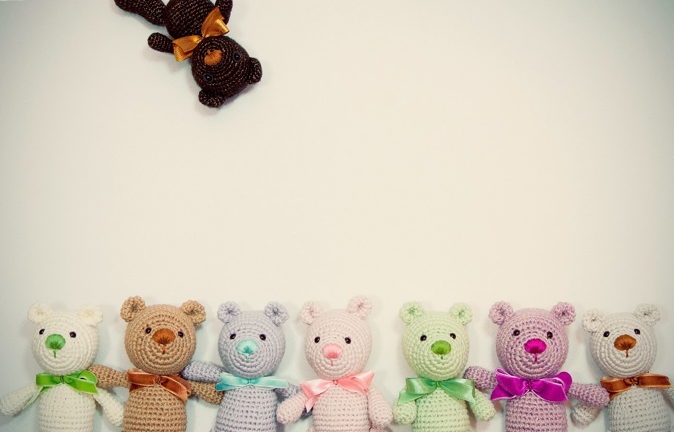 Amigurumi To Go Teddy Bear : HAPPYAMIGURUMI: Little Amigurumi Teddy Bears - New Crochet ...