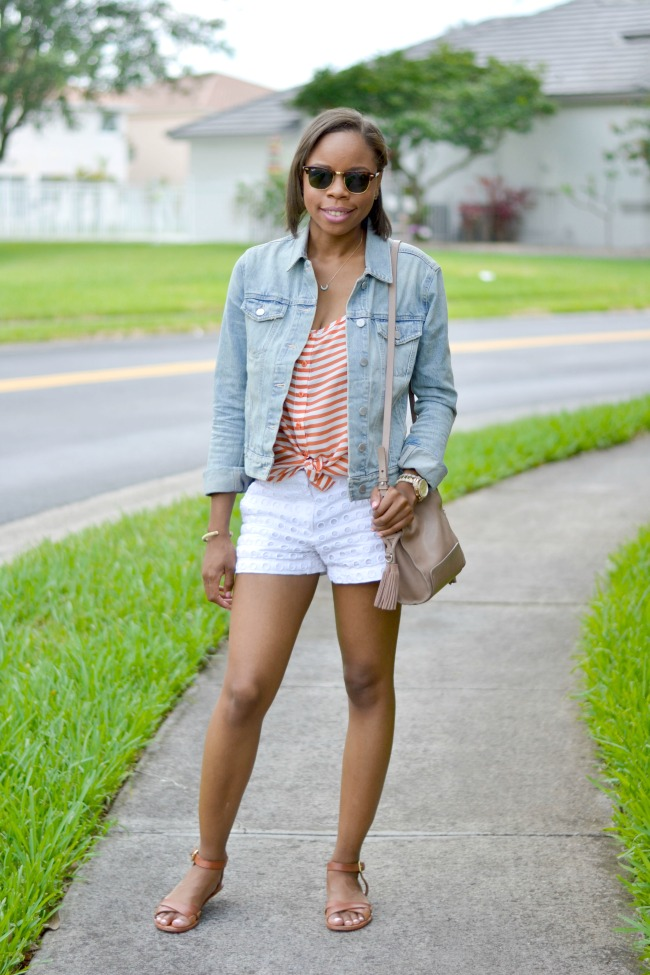 Stripes + Eyelet | Spring Outfit Ideas