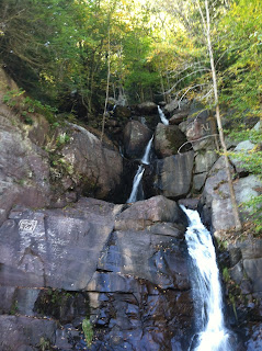 Buttermilk Falls, view of the top in the Lehigh Valley Gorge Trail