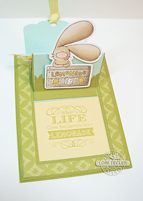 Lemonade Popup Slider card-designed by Lori Tecler/Inking Aloud-stamps, dies, and cut file from The Cat's Pajamas