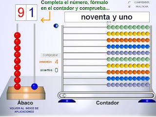 EL ÁBACO CONTADOR HASTA EL 99