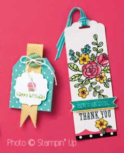 Buy Stampin' Up tag topper punch from Crafting Clare
