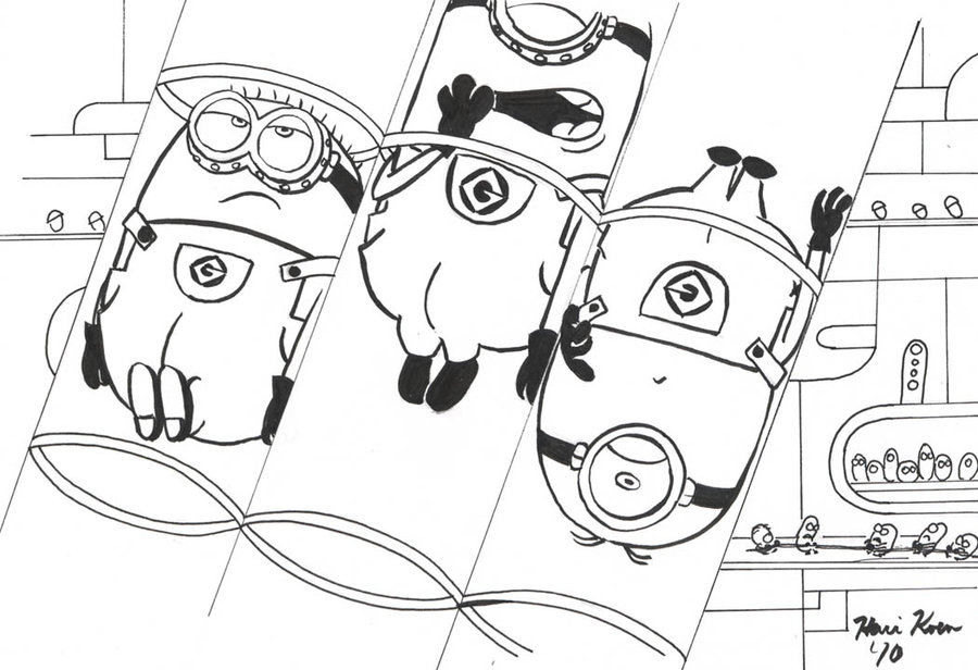 Minion christmas coloring auto design tech for Minion christmas coloring pages