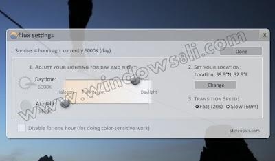 Windows 8 F.lux