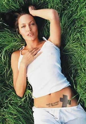 angelina jolie tattoos hip