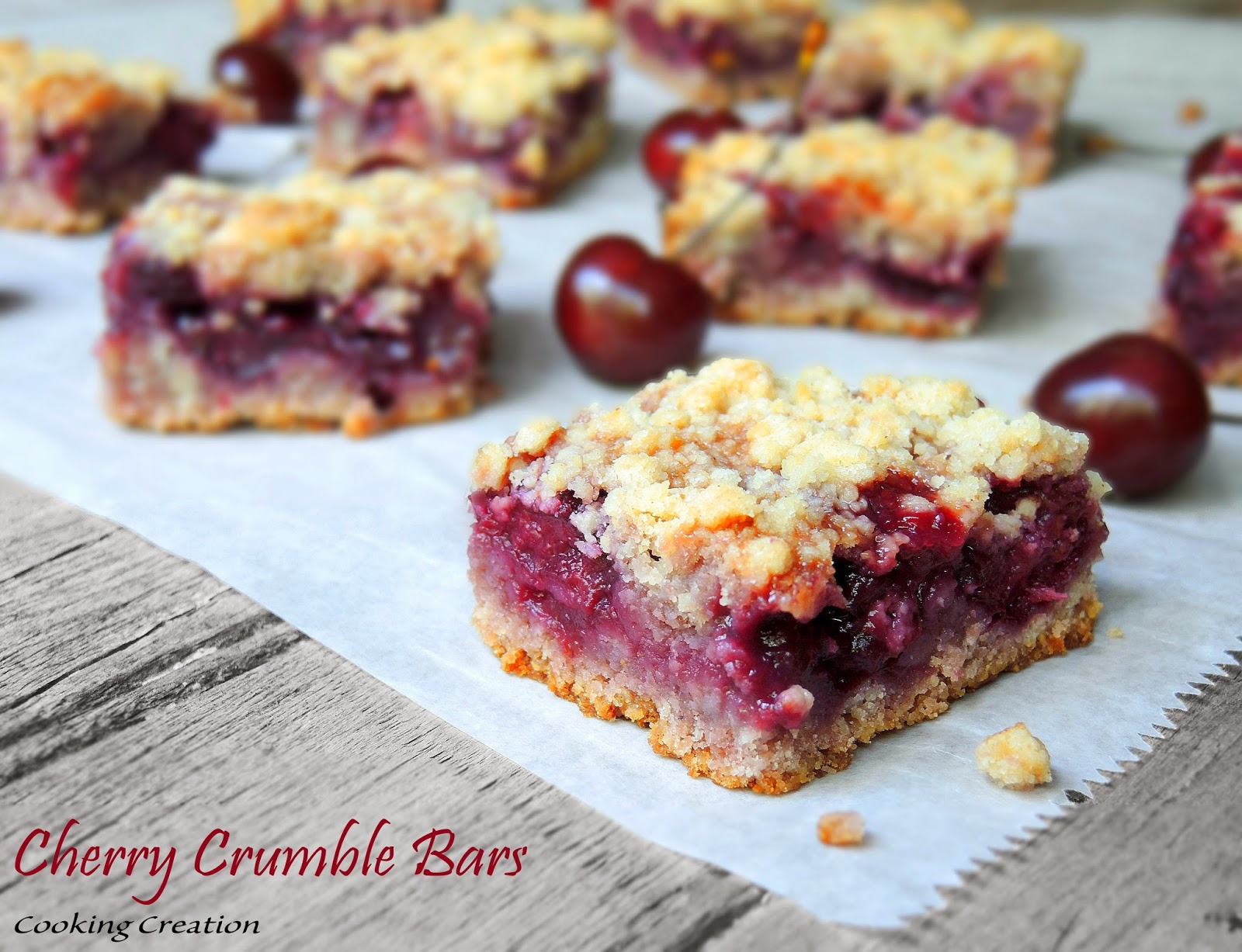 Triple Almond Cherry Crumble Squares Recipes — Dishmaps
