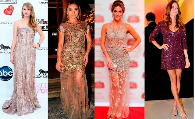 tendências vestidos festas noite bordado