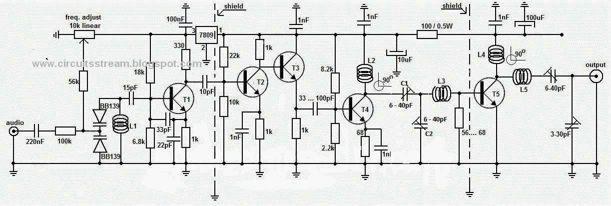Build a 1W Long Range FM Transmitter Circuit Diagram | Electronic ...