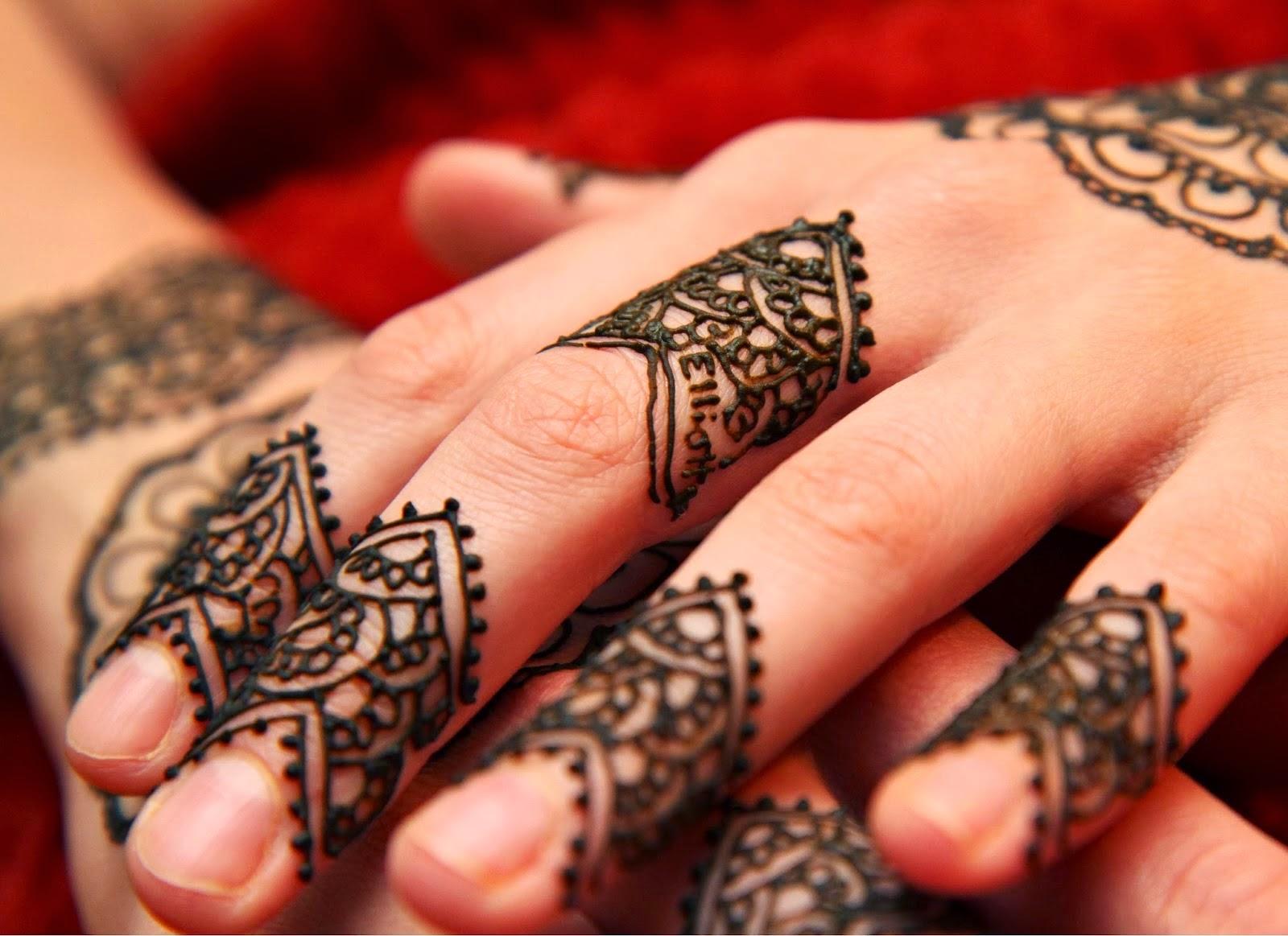 Simple Mehndi Patterns Wallpapers : Fingers mehndi design beauty makeup tips jigartv