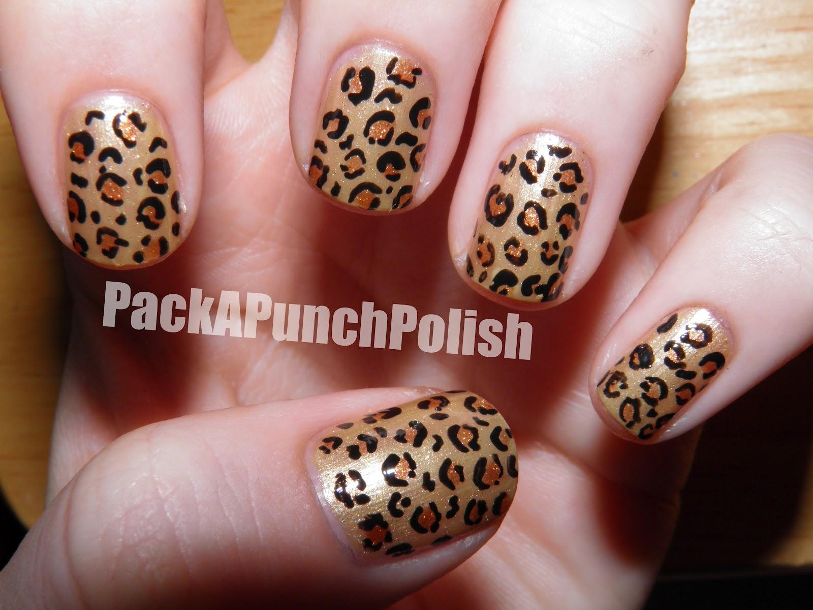 PackAPunchPolish: Leopard Print Nail Art