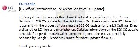 lg optimus 2x android 4.0, lg ice cream sandwich