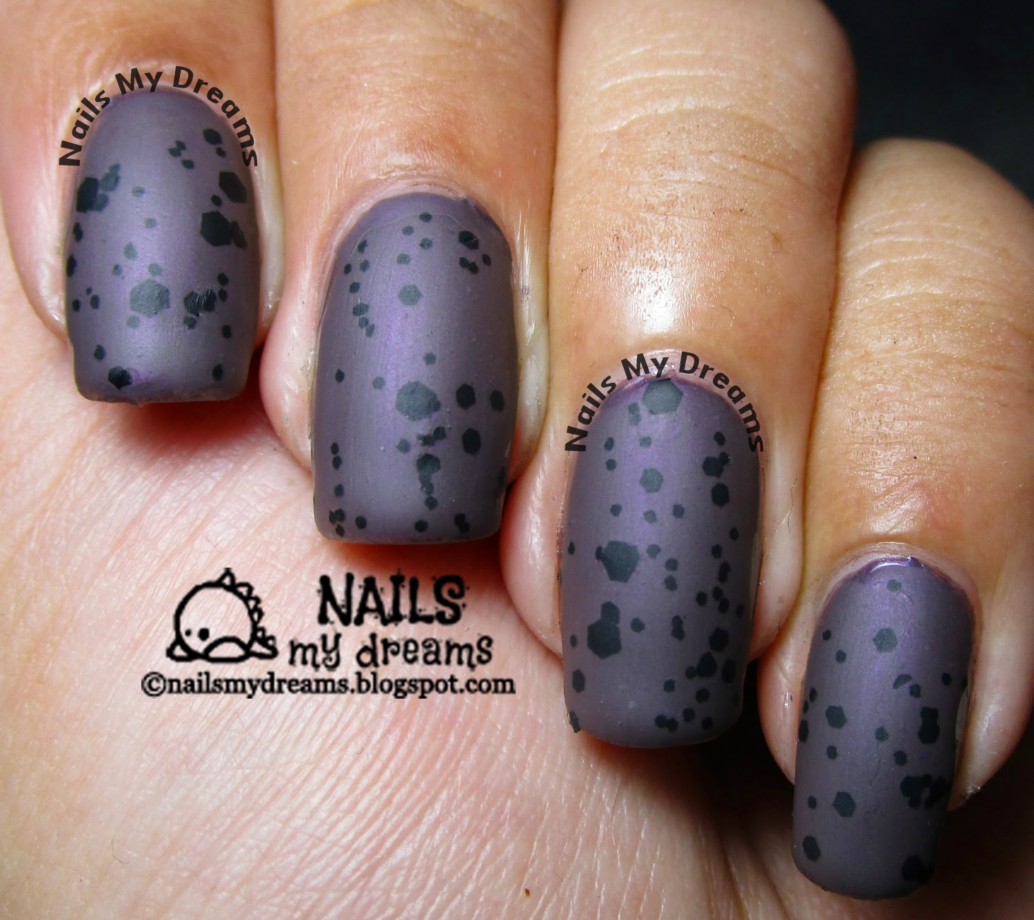 purple speckled nails