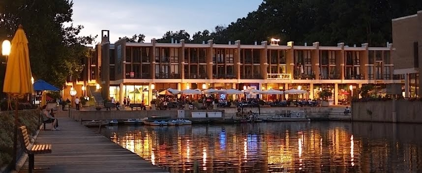 Autumn Evening at Washington Plaza, Lake Anne,