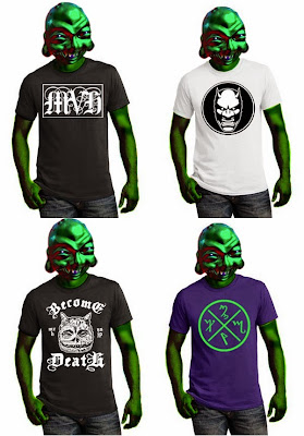 "Mutant Vinyl Hardcore T-Shirt Collection - ""MVH"", ""Demon Head Logo"", ""Become Death"" & ""Theban MVHC"""