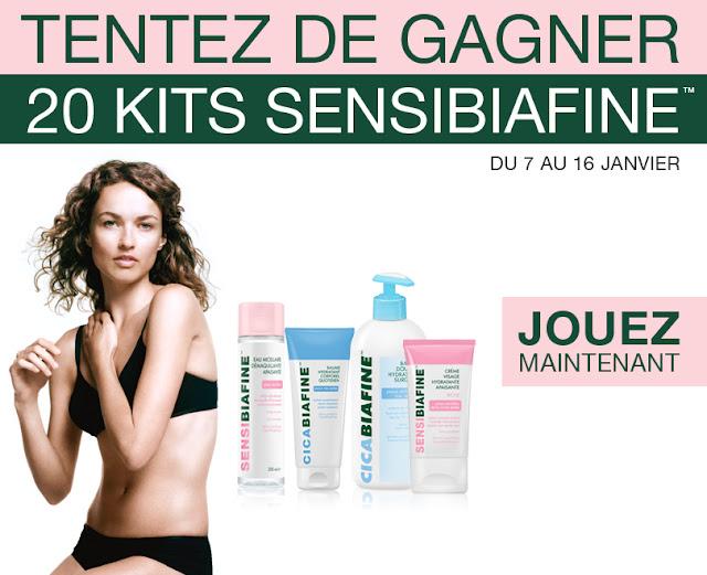 20 kits de produits Sensibiafine et Cicabiafine