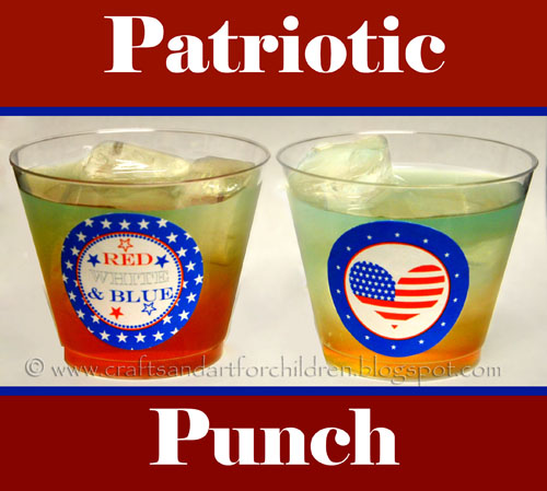 Patriotic Punch - kids 4th of July drink