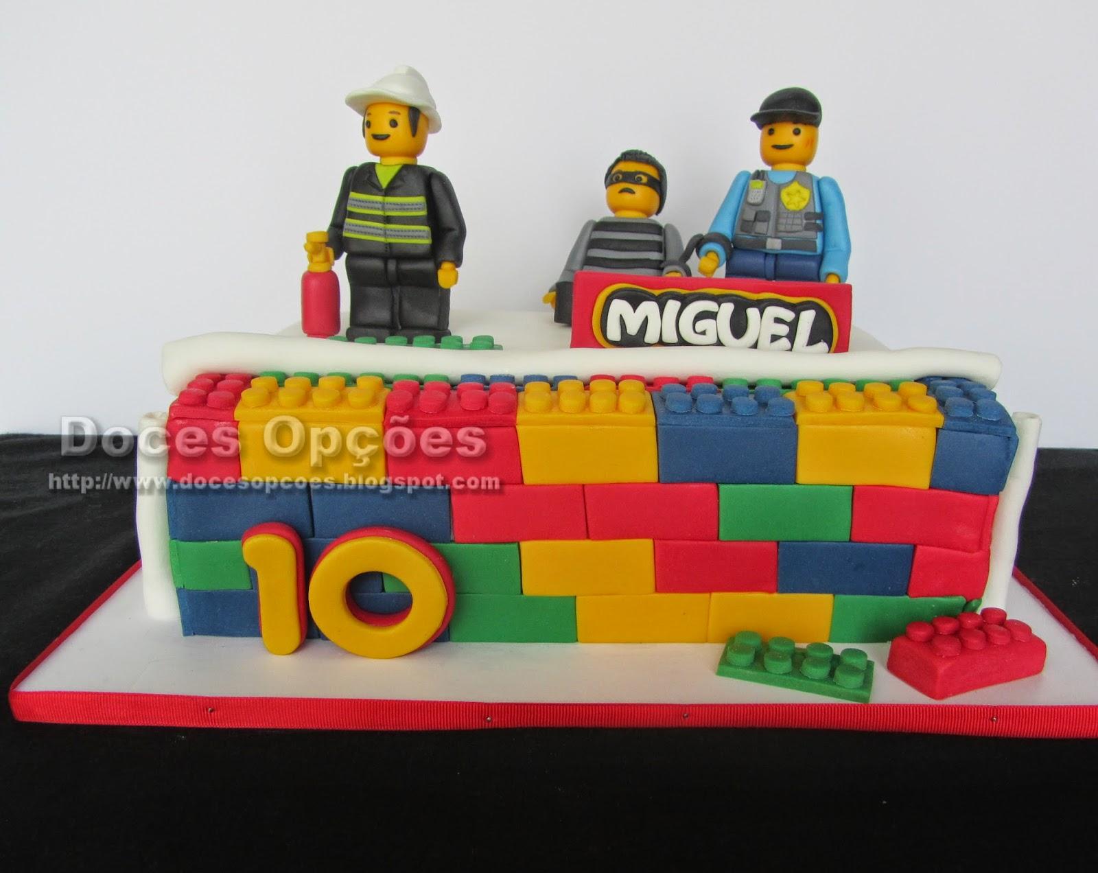 Bolo de aniversário Lego City