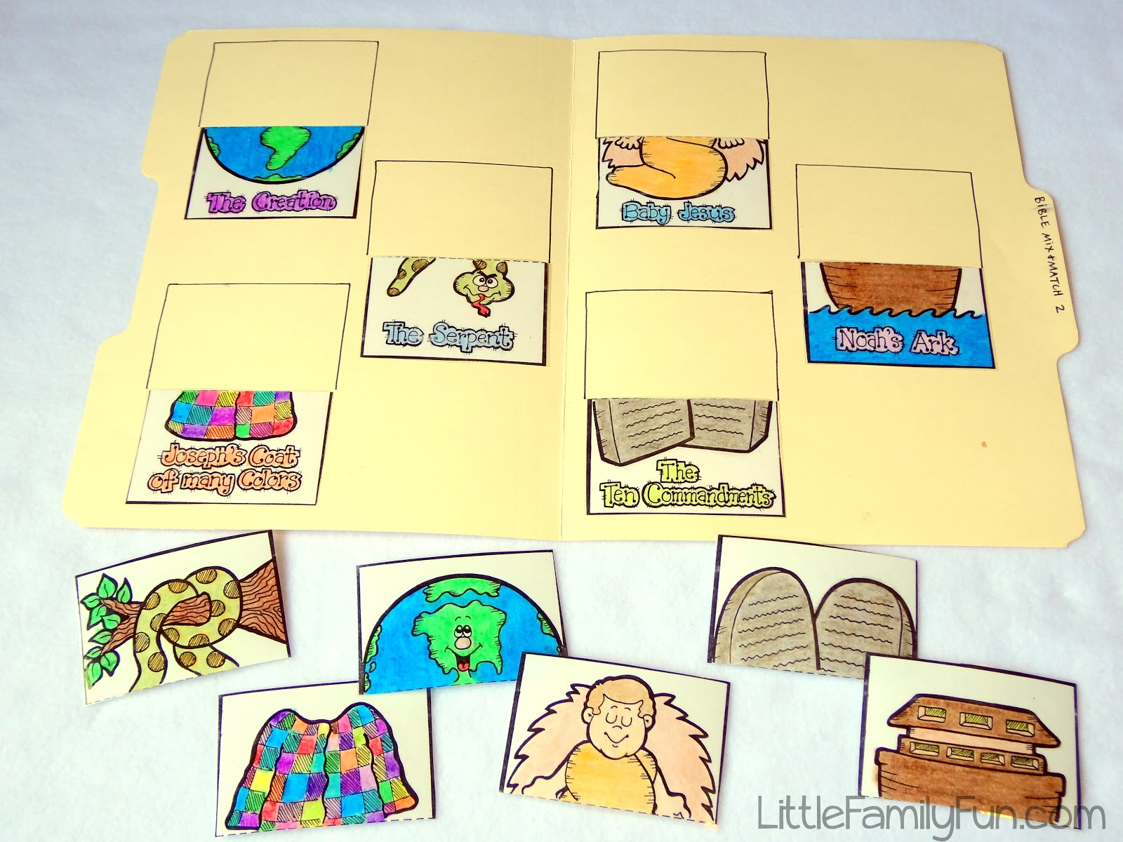 little family fun file folder games sundays