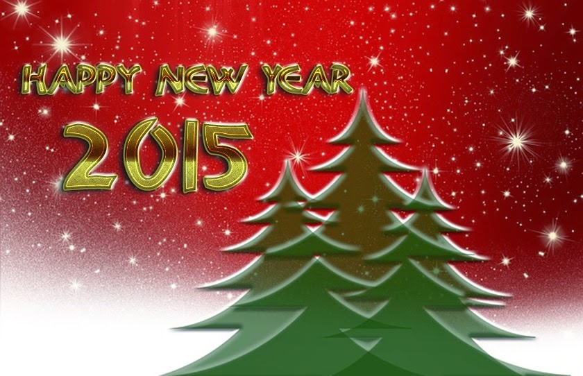 Beautiful Christmas tree Happy New Years Wishes Wallpapers 2015