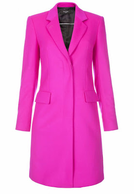 Neon pink cashmere-blend Epsom coat, by Paul Smith Black Label