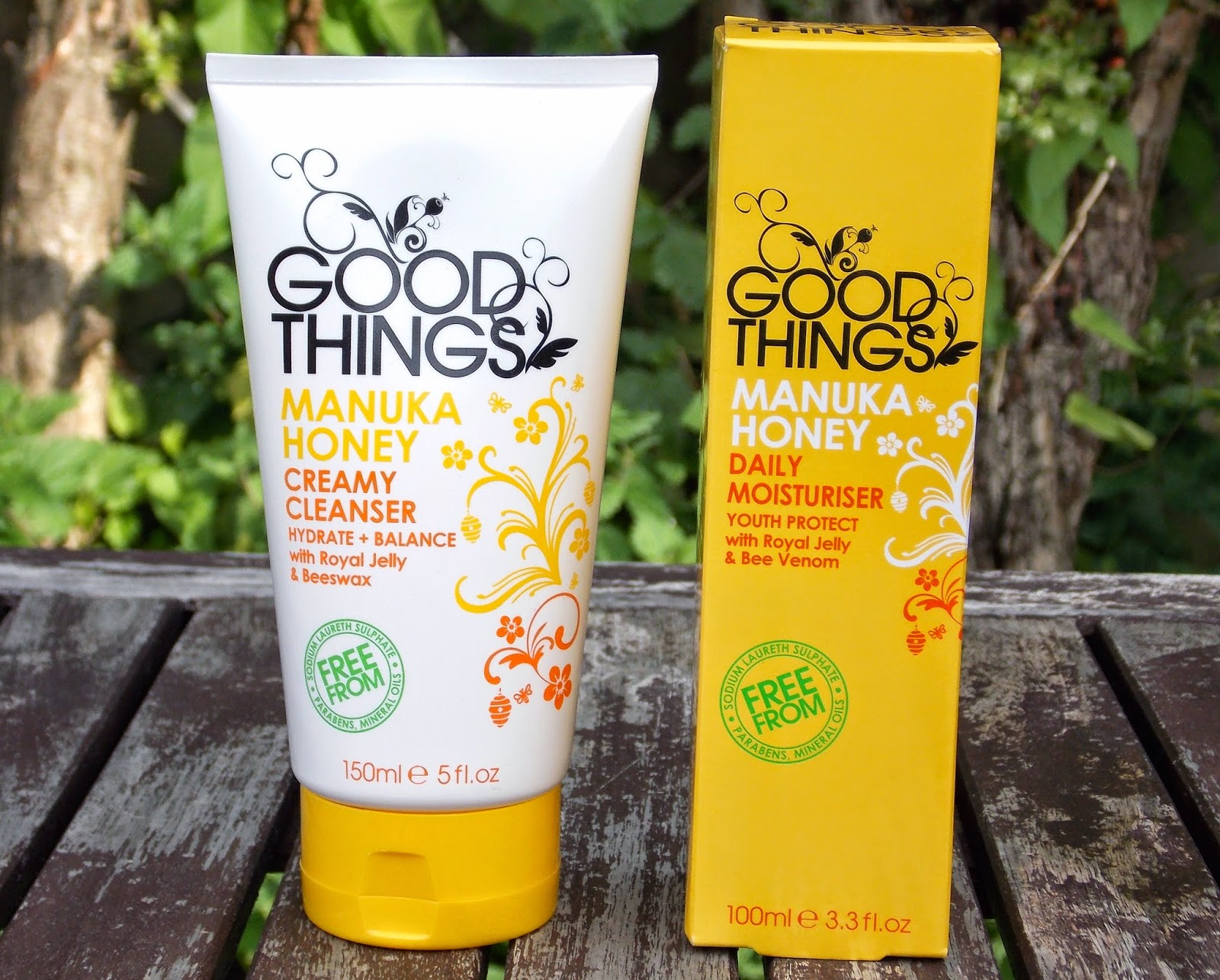 Good Things Manuka Honey Creamy Cleanser and Good Things Manuka Honey Daily Moisturiser