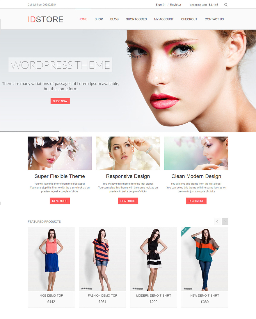 IDStore Ecommerce WordPress Theme