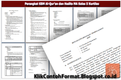 Prota Prosem Silabus RPP Qur'an Hadits MTs Kurikulum 2013