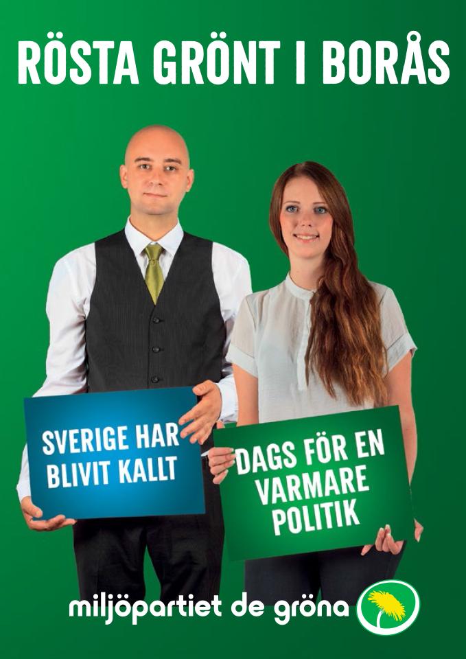 Rösta grönt i Borås för en politik för kultur och möten