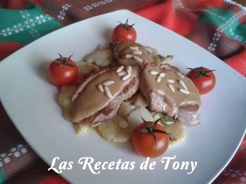Solomillo De Cerdo Sobre Fondo De Patatas Panadera Al Pedro Ximenez