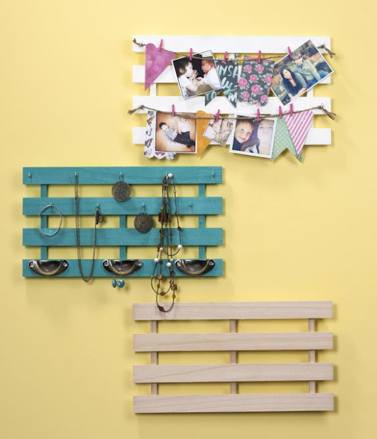 Wood Crate Jewelry Holder @craftsavy, #craftwarehouse, #Jeweryholder,#organize
