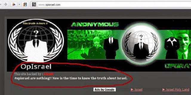 Malam Tahun Baru 2014 Hacker Seluruh Dunia Akan Hapus Israel dari Internet