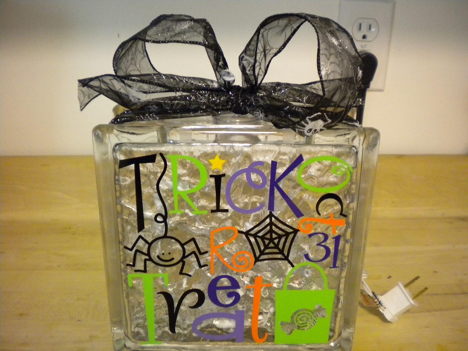 Dragonfly creative halloween glass block decorations - Glass block decoration ideas ...
