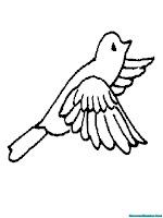 Lembar Mewarnai Gambar Burung Terbang