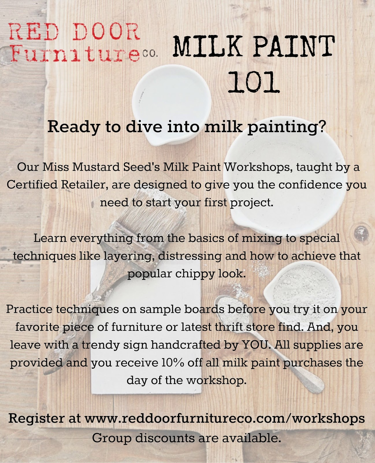 St. Louis Milk Paint Workshop