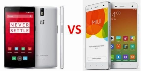 Perbandingan Mantap One Plus One Vs Xiaomi Mi4