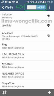 2 Cara Cepat Mengaktfikan Wi-Fi Di Android