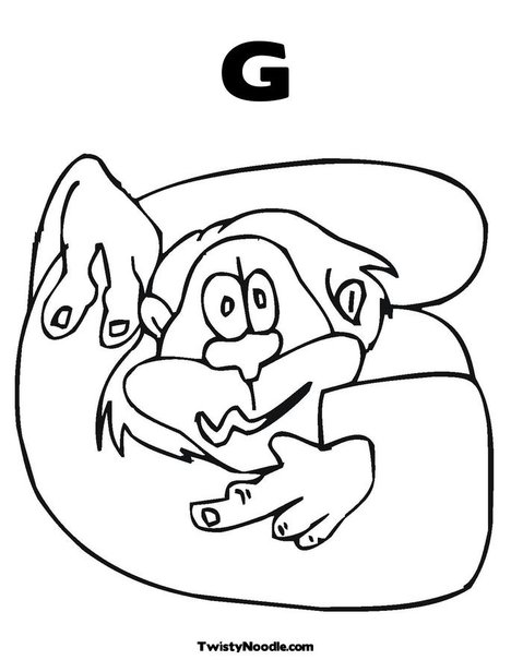 g coloring pages for kids - photo #6