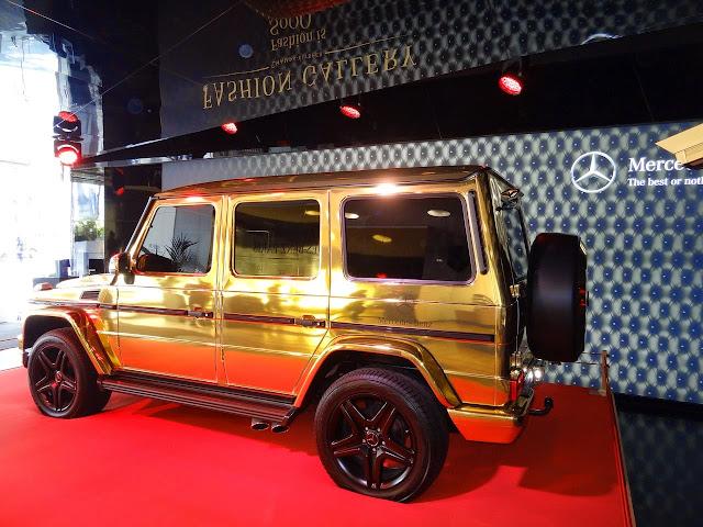 mercedes g gold