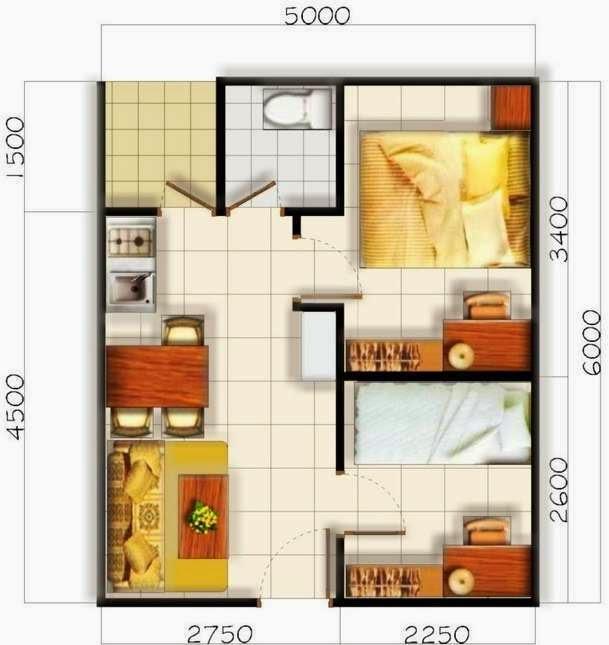 denah rumah minimalis 1