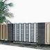 Desain Pagar Rumah Minimalis ( Kayu dan Besi )