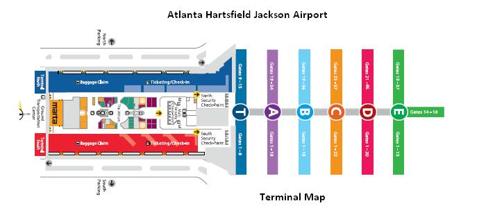 map of atlanta airport delta terminal bnhspinecom