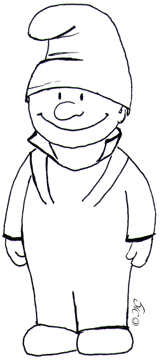 Раскраски гномики для детей - 4