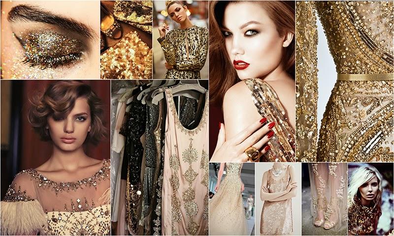 Золотой цвет в макияже и одежде