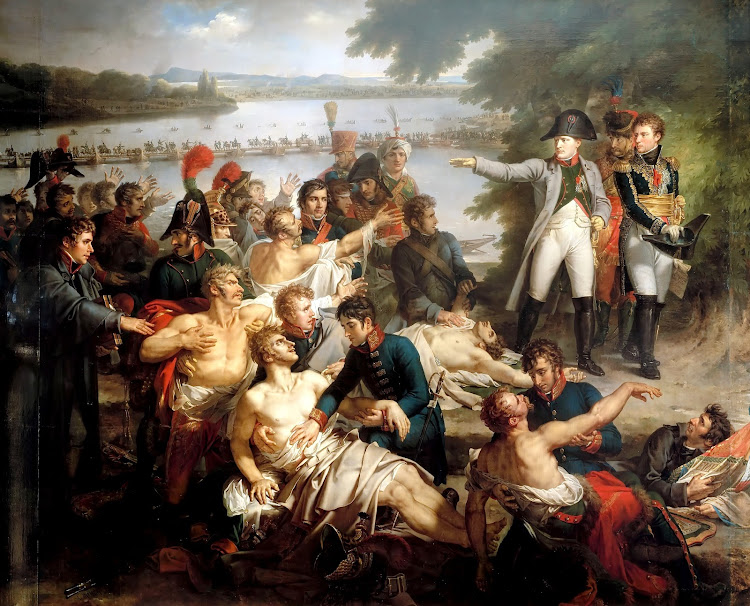Charles Meynier - The Return of Napoleon to the Island of Lobau after the Battle of Essling (1812)