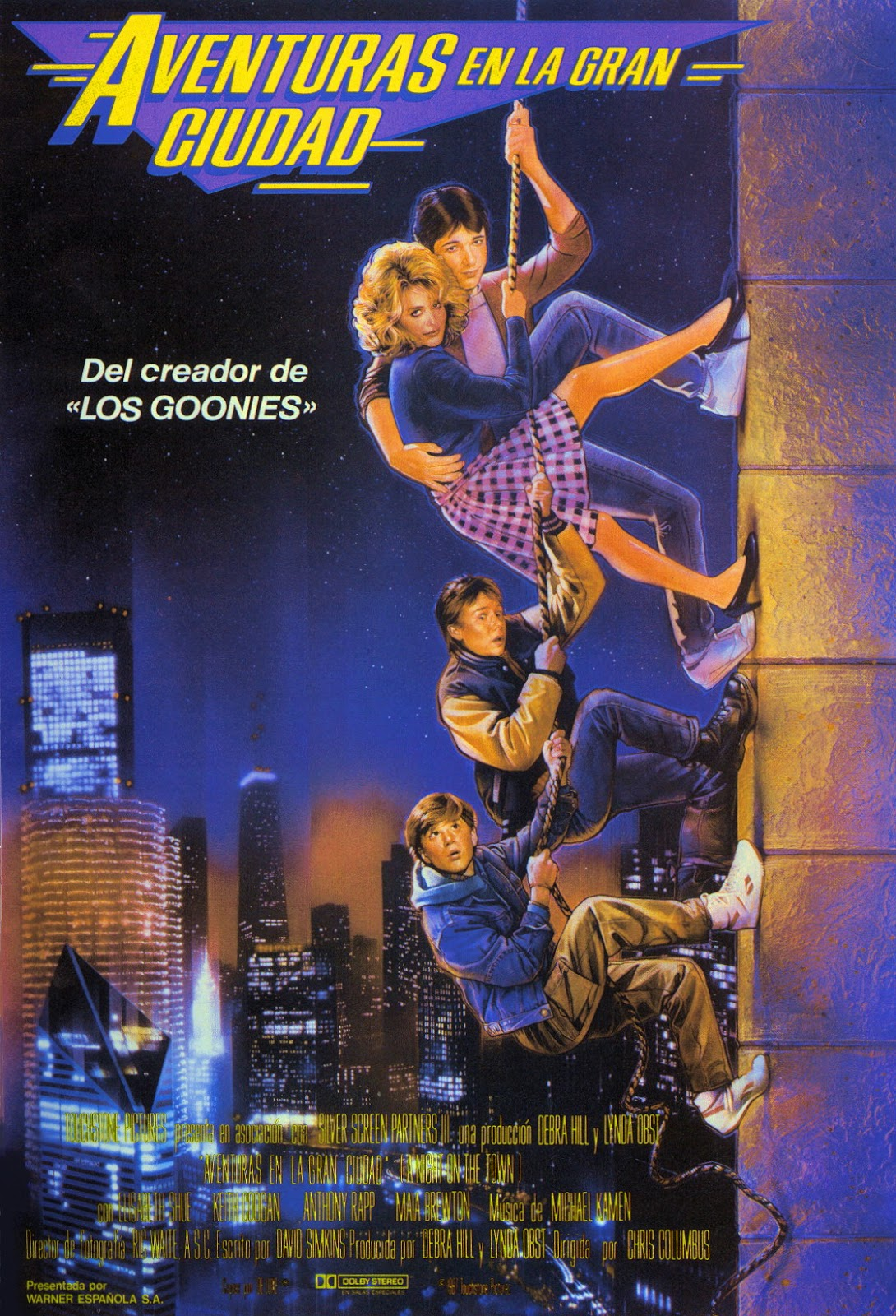 adventures in babysitting dir chris columbus 1987 discreet aventuras en la gran ciudad spanish poster via carteles peliculas click the poster for a larger image