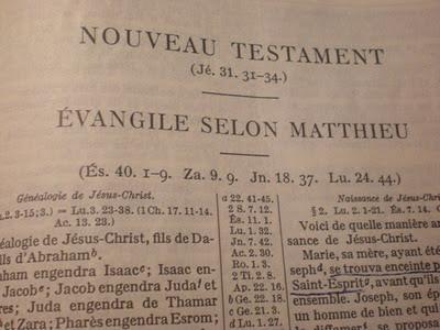 Nouveau Testament, Évangile selon Matthieu